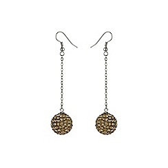 Mikey London - Gold 16mm crystal drop earring