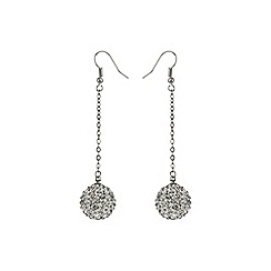 Mikey London - White 16mm crystal drop earring