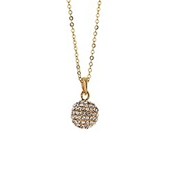 Mikey London - Gold crystal ball necklace