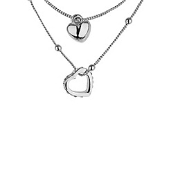 Mikey London - White heart small necklace