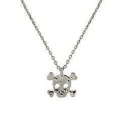 Mikey London - Silver small plain skull necklace