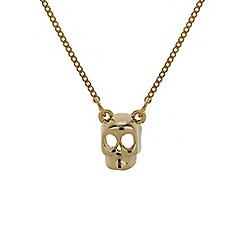 Mikey London - Gold small plain skull necklace