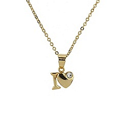 Mikey London - Gold small i love necklace