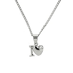 Mikey London - Silver small i love necklace
