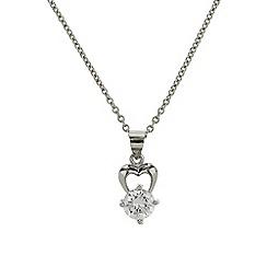 Mikey London - Silver small single diamante necklace