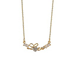 Mikey London - Silver small diamante love necklace