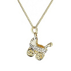 Mikey London - Gold small diamante pram necklace