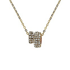 Mikey London - Gold small diamante loop necklace