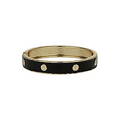 Mikey London - Black enamel circle bracelet