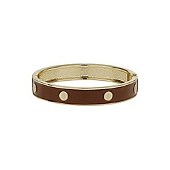 Mikey London - Brown enamel circle bracelet