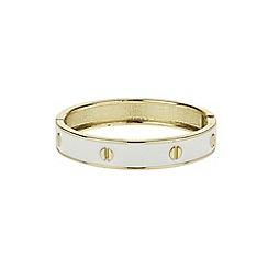 Mikey London - White enamel circle bracelet