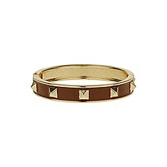 Mikey London - Brown enamel cone bracelet