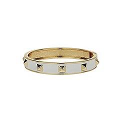 Mikey London - White enamel cone bracelet