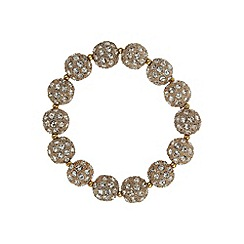 Mikey London - Gold crystal heavy bracelet
