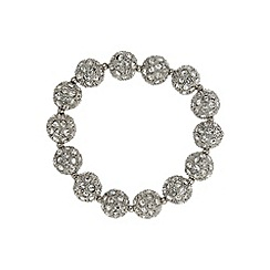 Mikey London - White crystal heavy bracelet