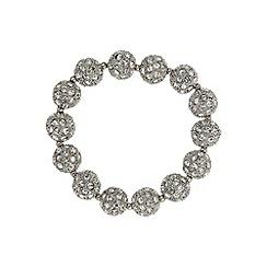 Mikey London - White crystal heavy bracelet