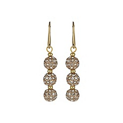 Mikey London - Gold crystal small heavy earring