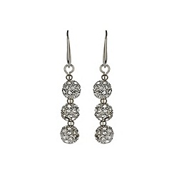 Mikey London - White crystal small heavy earring