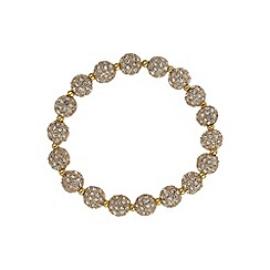 Mikey London - Gold crystal small heavy bracelet