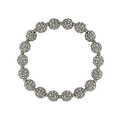 Mikey London - White crystal small heavy bracelet
