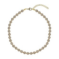 Mikey London - Gold crystal small heavy necklace