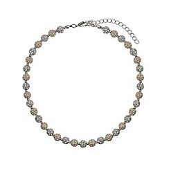 Mikey London - Gold and white crystal small heavy necklace