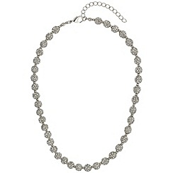 Mikey London - White crystal small heavy necklace