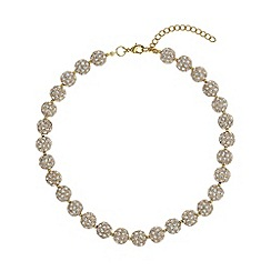 Mikey London - Gold crystal heavy necklace
