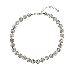 Mikey London - White crystal heavy necklace