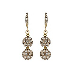 Mikey London - Gold crystal heavy earring