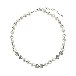 Mikey London - White 6 ball stone necklace