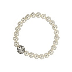 Mikey London - White crystal ball pearl bracelet