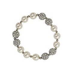 Mikey London - White crystal pearl 6 stone bracelet