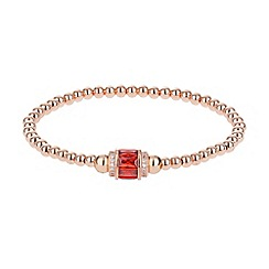 Mikey London - Cubic cylinder bead elastic bracelet