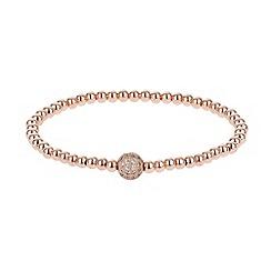 Mikey London - Cubic crystal ball elastic bracelet