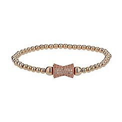 Mikey London - Gold crystal dumbell bead bracelet