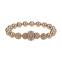 Mikey London - Gold cubic crystal ring ball elastic bracelet
