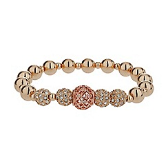 Mikey London - Gold cubic crystal balls bracelet
