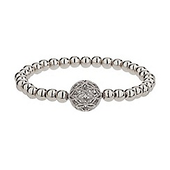 Mikey London - White mesh ball metal elastic bracelet