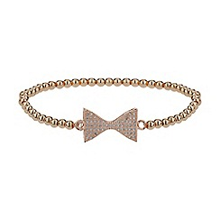 Mikey London - Gold neck bow crystal elastic bracelet