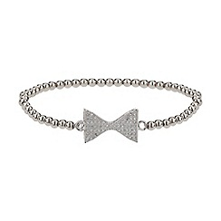 Mikey London - White neck bow crystal elastic bracelet