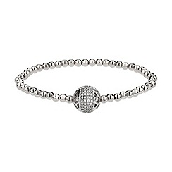 Mikey London - White filigree solid crystal bead bracelet