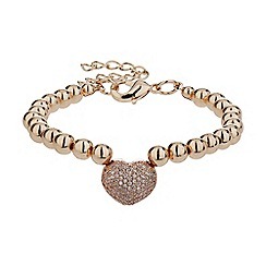 Mikey London - Gold studded crystal heart bracelet