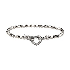 Mikey London - White crystal heart elastic bracelet