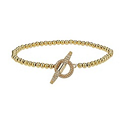Mikey London - Gold clip lock metal chain bracelet