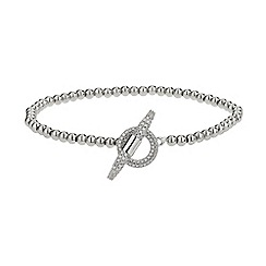 Mikey London - White clip lock metal chain bracelet