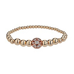 Mikey London - Rose gold large crystals ball metal chain bracelet