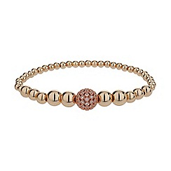 Mikey London - Rose gold fine cubic ball multi metal bracelet