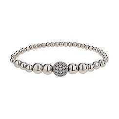 Mikey London - White fine cubic ball multi metal bracelet