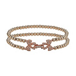 Mikey London - Rose gold twin butterfly inter lock bracelet
